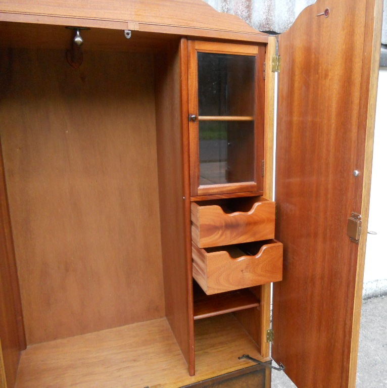 Golden Key Wardrobe Walnut Fitted Two Door In The Queen